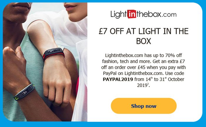 £7 off at Light in the Box