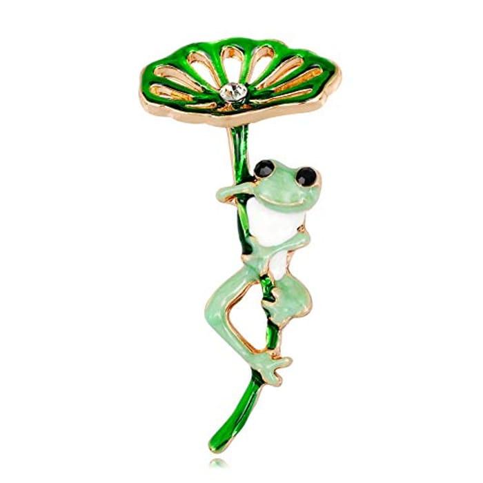 Green Frog Broach for £1.64 Delivered