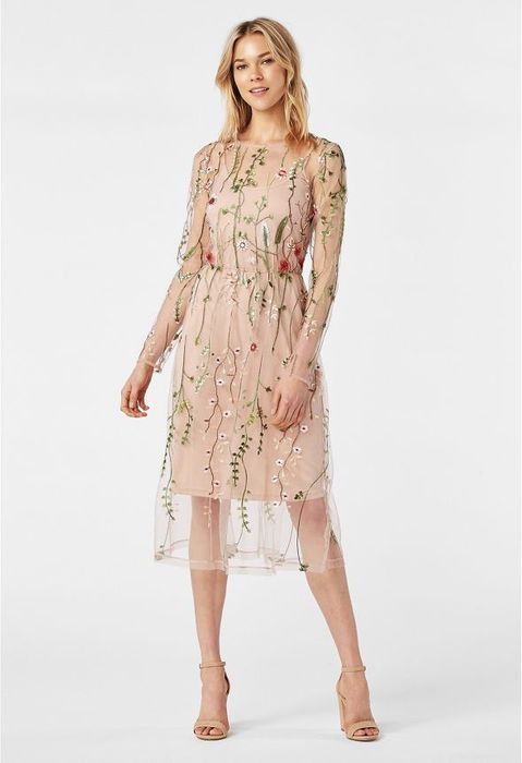 Floral Embroidered Dress at Justfab