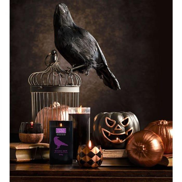 *Half Price* Pair of Glitter Pumpkin Votive Holders + 6 Halloween Candles