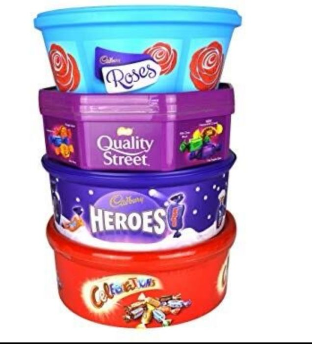 Cadburys Heroes, Roses, Celebrations Tubs from 30th Oct until 5th Nov