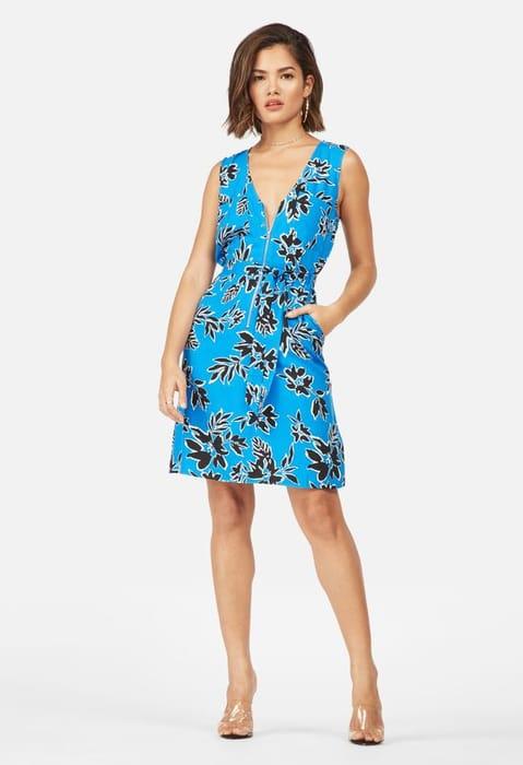 Sleeveless Zipper Front Dress at Justfab