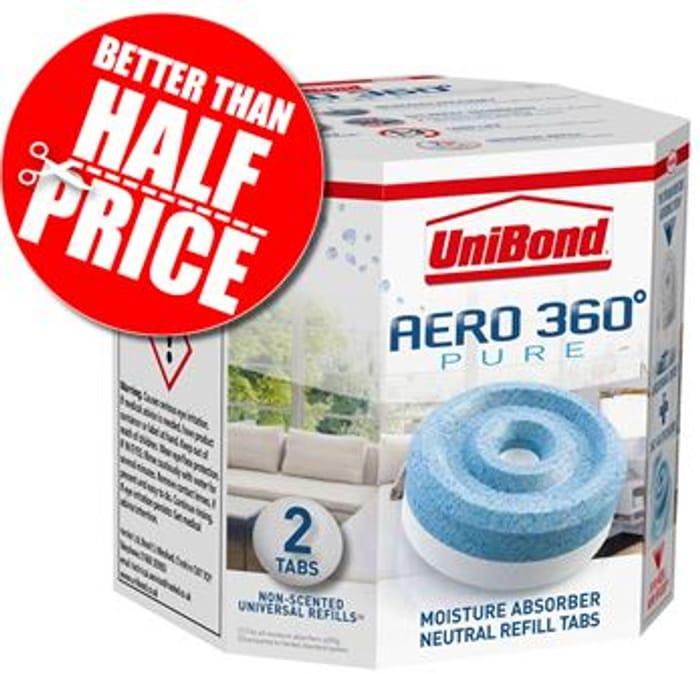 2 X UniBond Aero 360 Moisture Absorber Refills (Amazon Add-on Item)