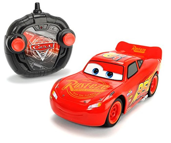 Disney Lightning McQueen Remote-Control Racer Toy Car with Full Steering
