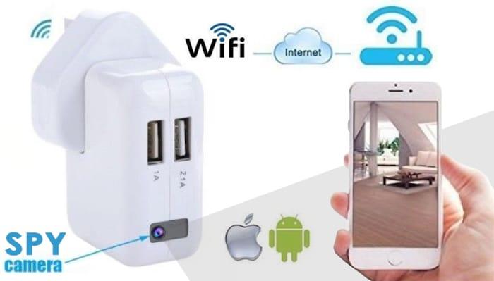 CHEAP! 1080P Wi-Fi Spy Plug Camera + USB Charger with Optional 32 GB Micro SD