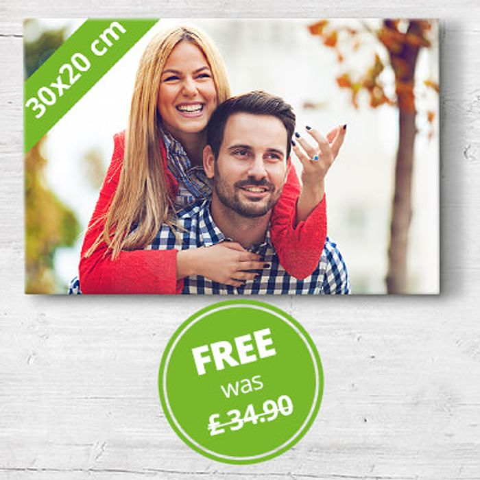 Get a 30x20cm Canvas Free - £5 Delivery at My-Picture