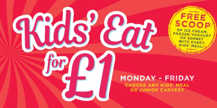 TEN Kids Eat For £1 Offers For Half Term Inc Toby Carvery, Bella Italia & More