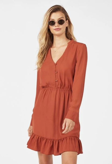Long Sleeve Ruffle Dress at Justfab