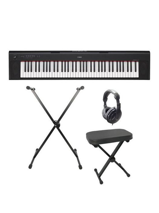 Yamaha Piaggero Keyboard Pack Headphones Stand Stool & 6 Months Free Lessons