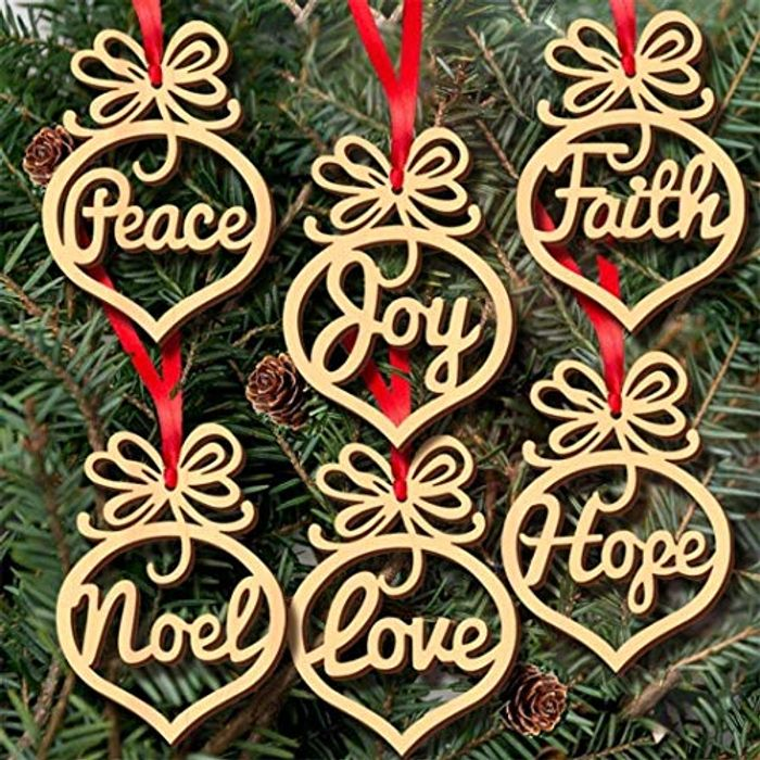 Cheap 6pcs Heart Christmas Ornaments - Only £1.45!