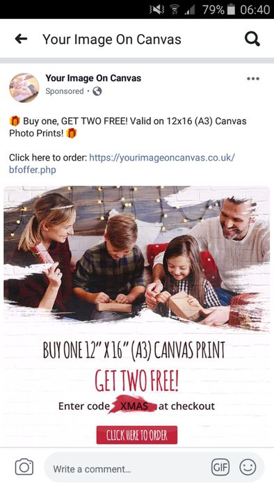 Buy 1 12x16 Canvas and Get 2 Free!