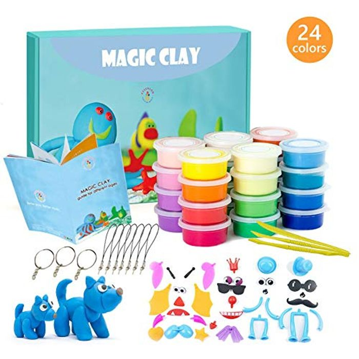 DOTD! Modeling Clay Kit - 24 Colors Air Dry Ultra Light Magic Clay