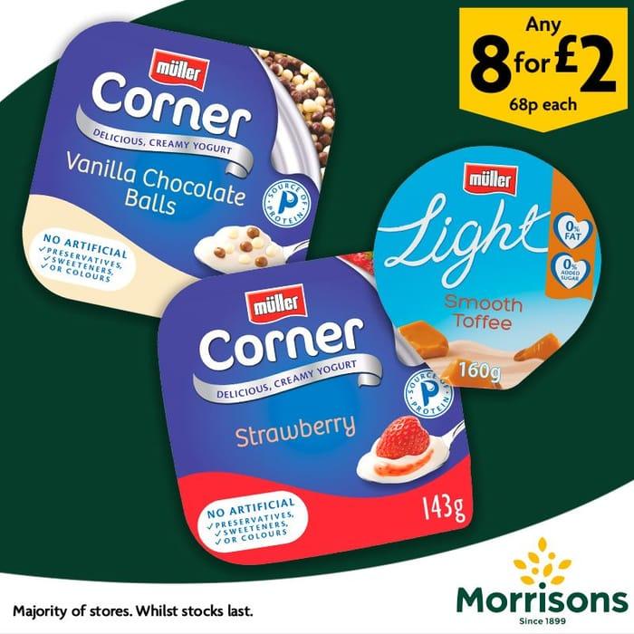 Muller Corner/Light or Rice - Any 8 for £2 at Morrisons
