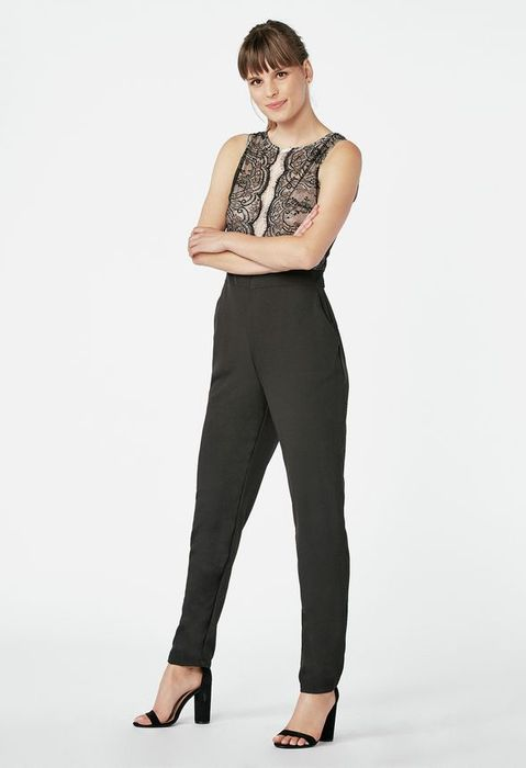 Lace Tailored Jumpsuit at Justfab