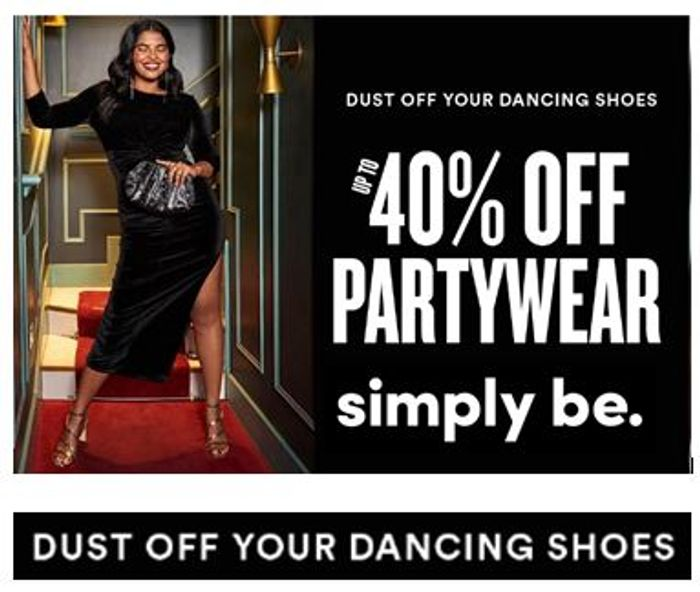 Simply Be PARTYWEAR SALE - up to 40% OFF