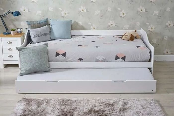 Wooden 3ft Single Bed with Trundle - 2 Colours & Mattress Option!