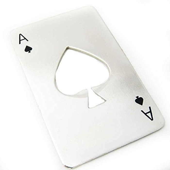 S Tainless Steel Credit Card Poker Bottle Opener for Your Wallet