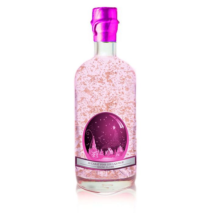 Snow Globe Pink Gin Liqueur Gold Flake - Limited Release