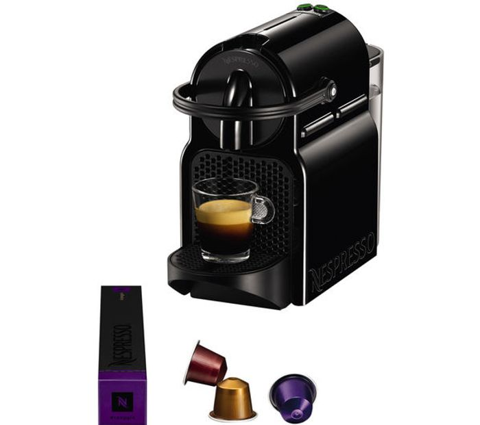 *SAVE £20* NESPRESSO by Magimix Inissia 11350 Coffee Machine - Black/Red +