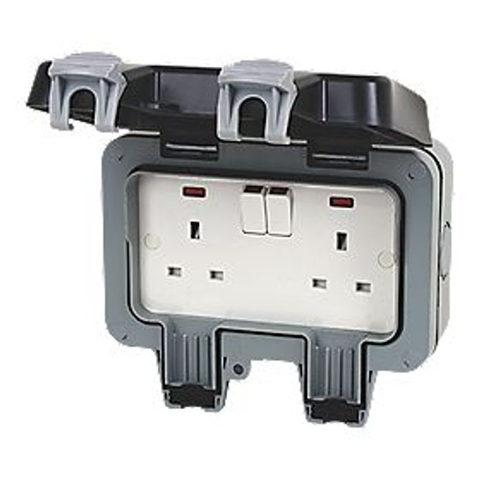 Best Price! British General 13A 2G DP WEATHERPROOF OUTDOOR SWITCHED SOCKET