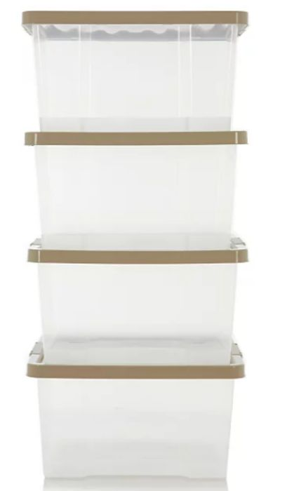 Clear Box and Putty Lid 27L - Set of 4 Only £10.8