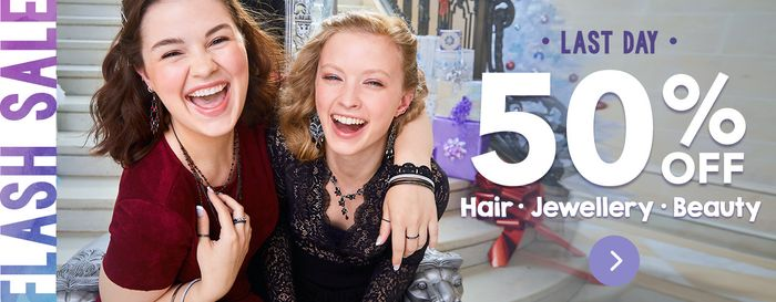 LAST DAY! 50% off at Claire's