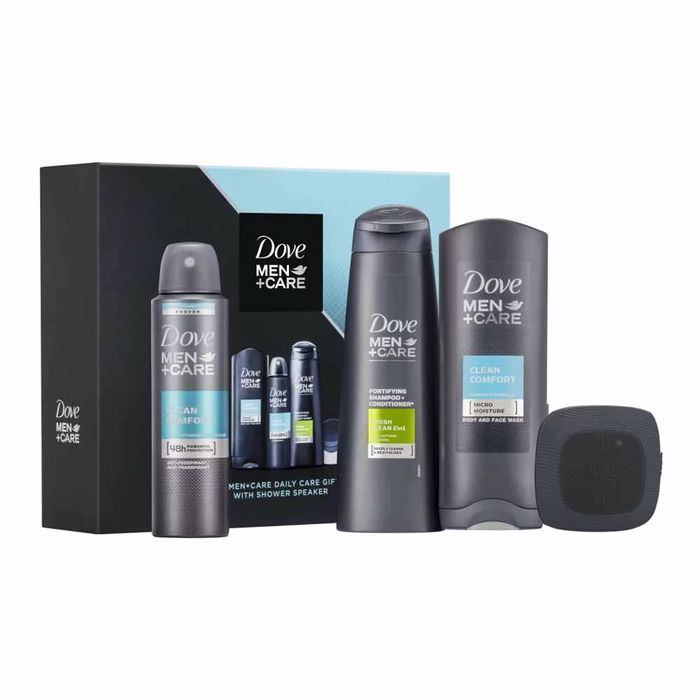 Dove Men+Care Gift Set with Shower Speaker with 50% Discount!
