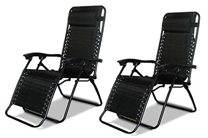 Cheap 2 X Reclining Chair Sun Loungers at Amazon Only £37.97