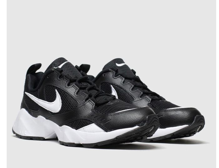 Nike Black & White Air Heights Trainers