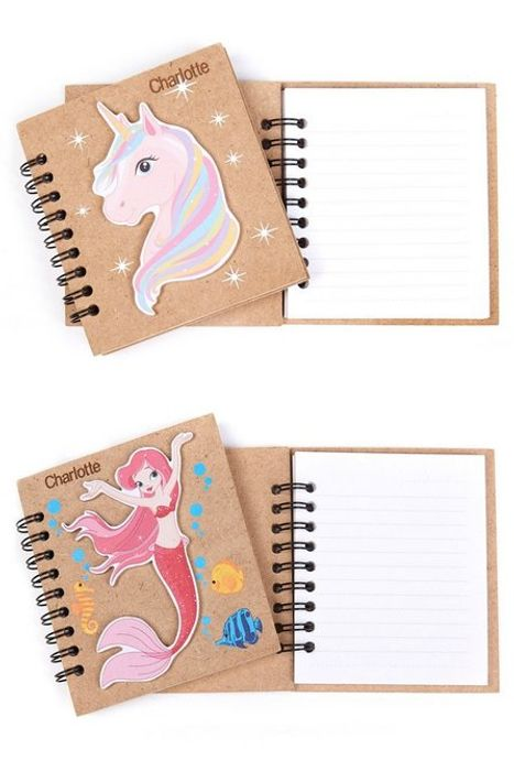 Personalised Mermaid and Unicorn Wooden Book