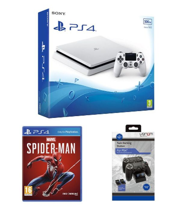 SONY PlayStation 4, Spider-Man & Twin Docking Station Bundle-500 GB Only £219