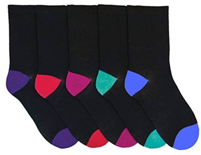 5 Pack Cotton Rich Socks Size 4-6.5 FREE DELIVERY