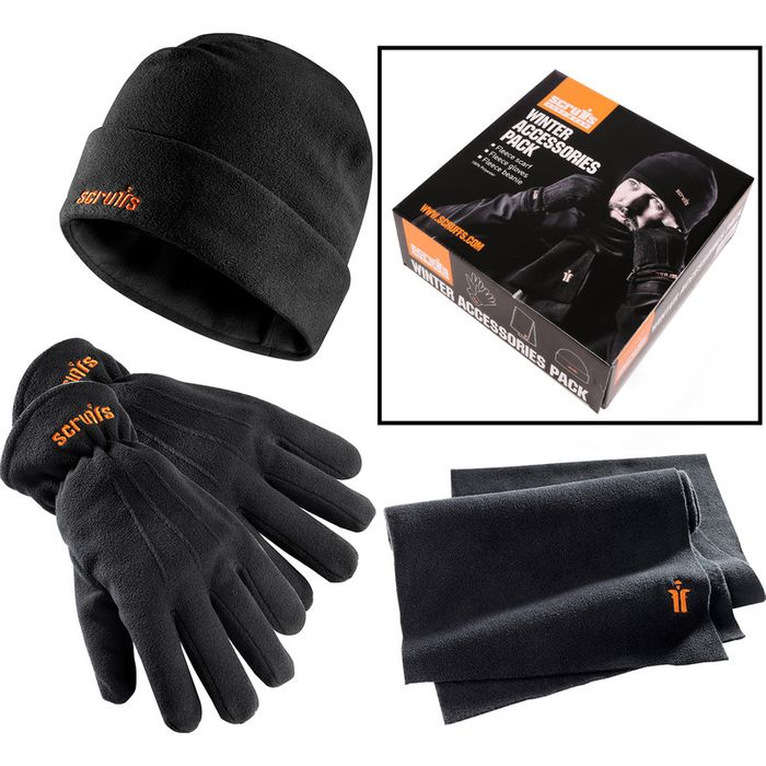 Scruffs Winter Accessories Hat-Scarf-Glove Pack Black