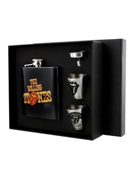 The Rolling Stones Tongues Hip Flask