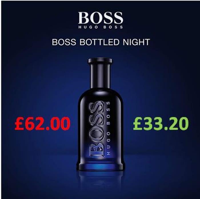 Cheap Hugo Boss Bottled Night EDT for Men 100ml, reduced by £28.80!