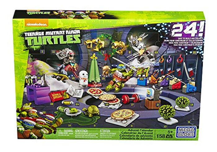 Mega Bloks Toy Teenage Mutant Ninja Turtles Advent Calendar 158 Pieces
