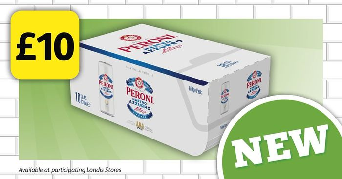 10 Cans of Peroni for £10