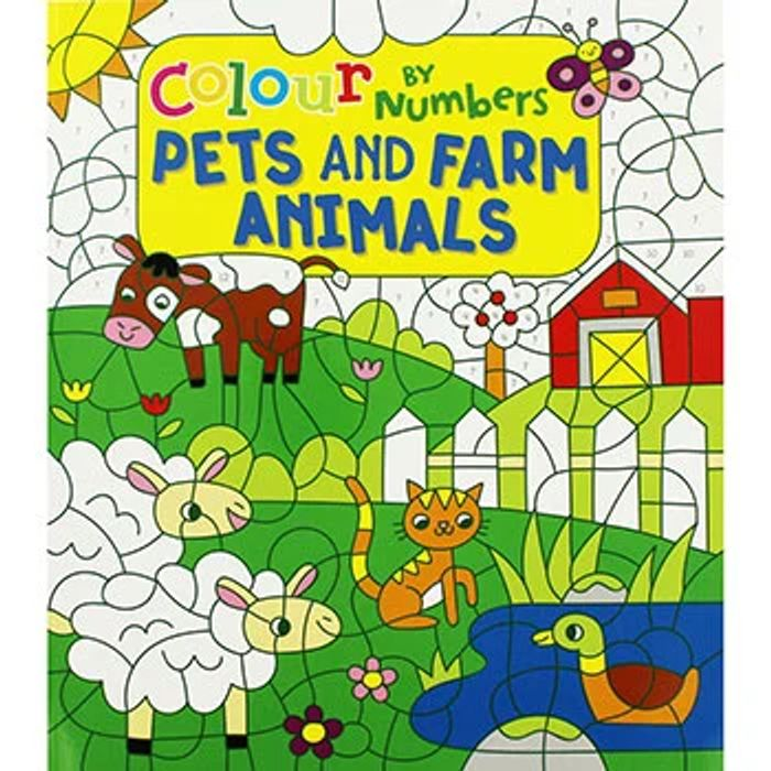 Colour by Numbers - Pets and Farm Animals
