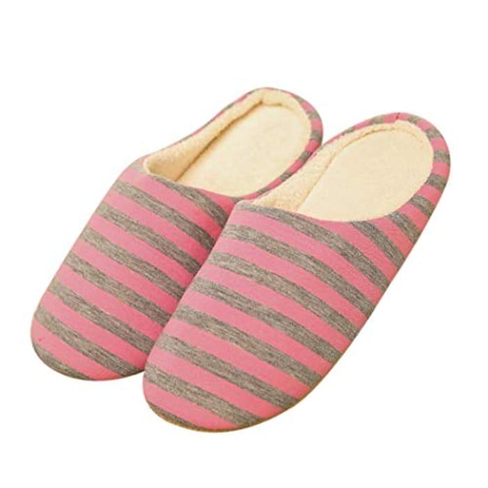 Women Striped Slippers