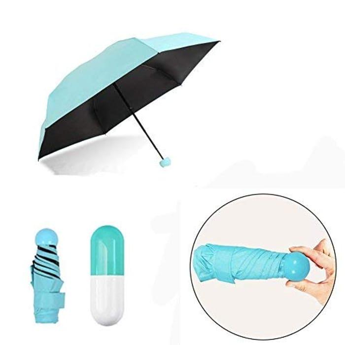 0.5lb / 7inch Ultra Light Mini Anti-UV Umbrella with Capsule Case FREE DELIVERY