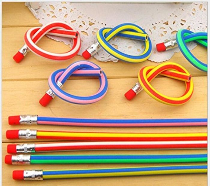 Pack of 30 Flexible Bendy Pencils - Only £2.44 Delivered
