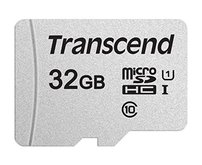 Transcend 32GB microSDHC 300S Memory Card, Class 10, U1, 95MB/s