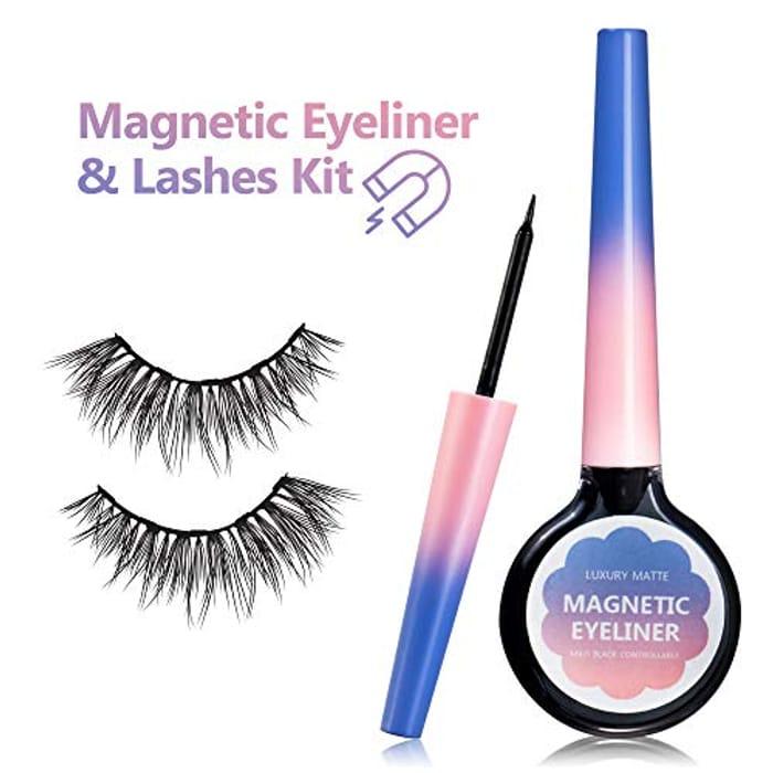 Magnetic Eyeliner & Eyelash Kit with 5 Magnets