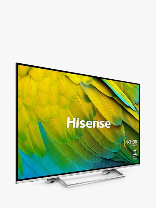 """Hisense (2019) LED HDR 4K Ultra HD Smart TV, 55"""" with Freeview Play, 5yr G'tee"""