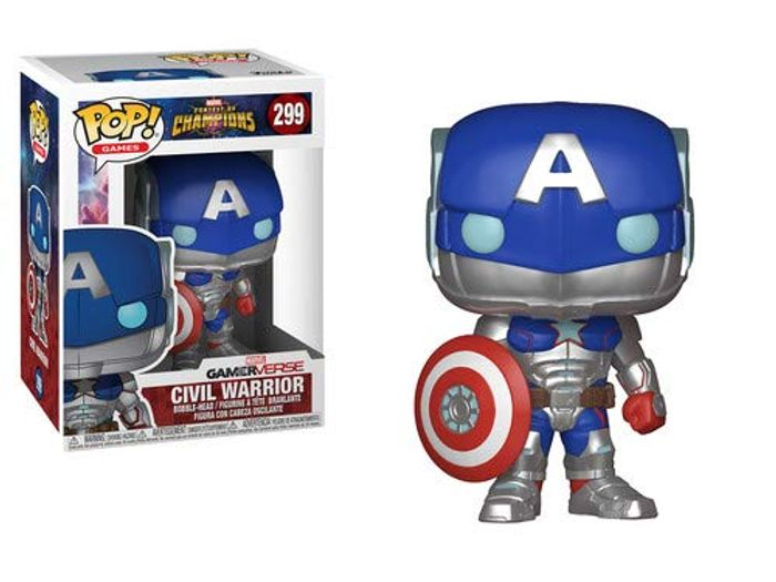 Funko 26709 Pop Games Marvel Contest of Champions Civil Warrior