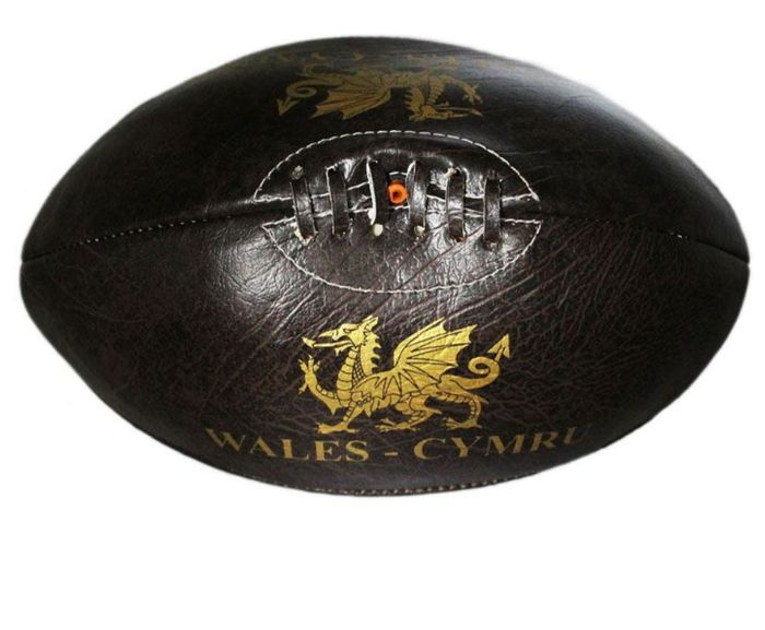 Wales Vintage Leather Rugby Ball