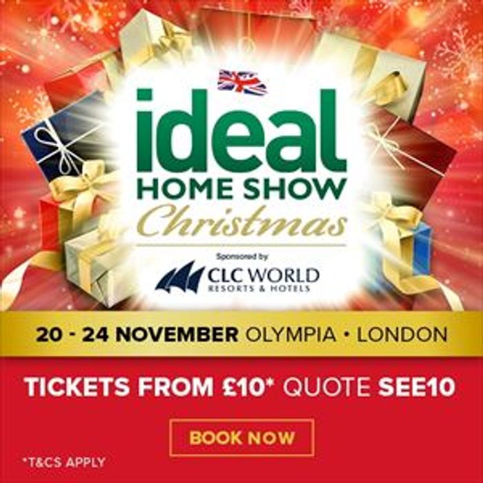 2 Tickets for £15 for Ideal Home Show