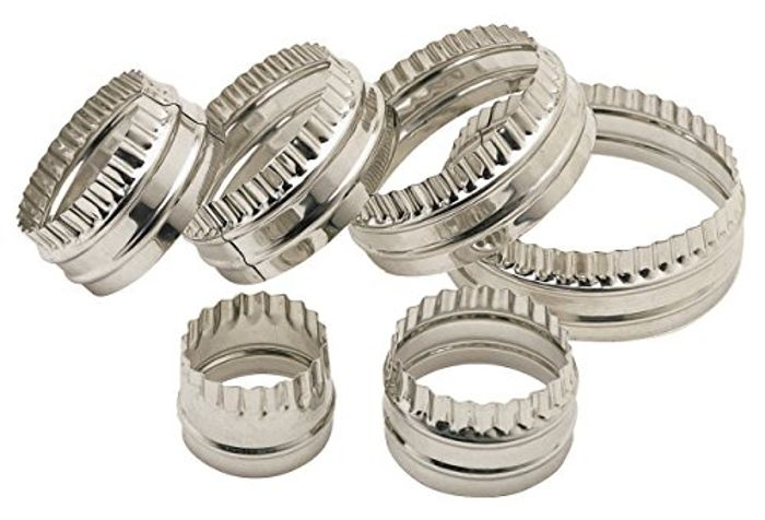 KitchenCraft Double-Edged Metal Pastry / Cookie Cutters (Set of 6)