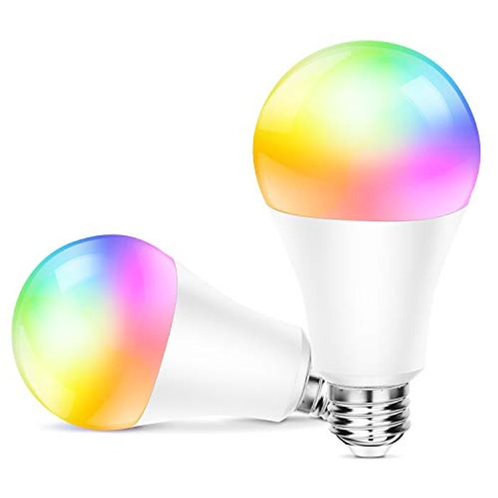 WiFi Smart Bulb Light 10W RGB Colour Changing (2 Pack)