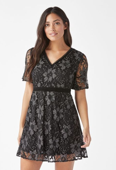 Lace Flutter Sleeve Dress at Justfab